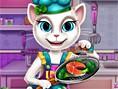 Kedi Aşçı Mutfakta