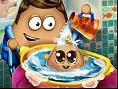 Pou Baby Waschen