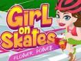 Bedienung auf Skates: Blumengeschäft