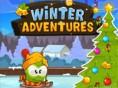 Entdecke ein fantastisches Winterwunderland! Begleite einen kleinen grünen Freund beim Schlitts