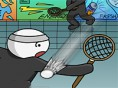 Strich- männchen- Badminton 2