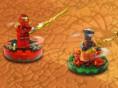 LEGO Ninja topaç sava??na ho?geldin! Beyblade tarz? oyunun LEGO versiyonu ile kar?? kar??yay?