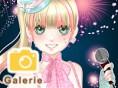 Süße Anime- Sängerin