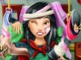 Oh nein, die tapfere Reiter-Prinzessin Mulan ist vom Pferd gefallen! Kannst du sie online gesund mac