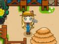Lily faul auf der Farm