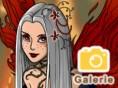Dunkle Fee - style ein hübsches Fantasywesen Dunkle Fee ist in mystisches Mädchenspiel, in