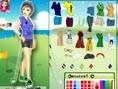 Golferin anziehen