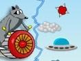 Ein spannender Flug wartet auf dich. Steuerung: Maus Steuere deinen Waschbär mit der Maus. Mit Links