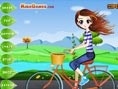 Bikerin anziehen