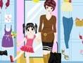 Mutter und Tochter Mode In diesem Spiel kannst du ein kleines Mädchen und seine Mutter ankleiden. Du